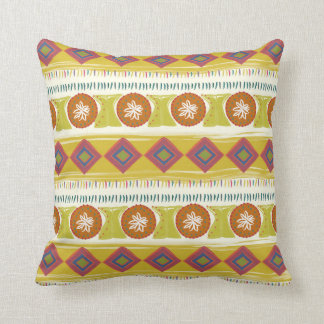 Pillow with hipster ornament pattern.