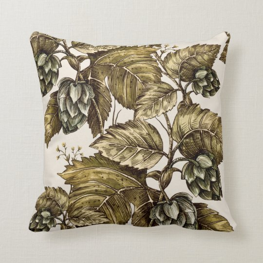 Pillow with image of ivy
