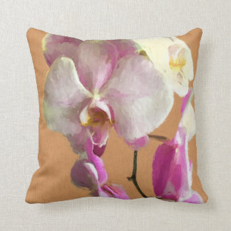 Pillow With Orchid Design