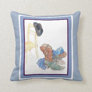 Pillow with original western art