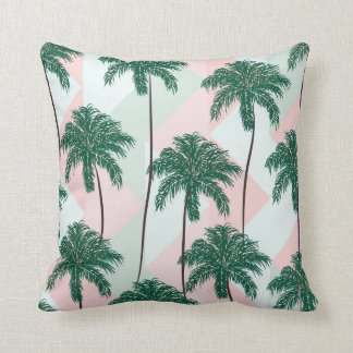 Pillow with palm trees pattern.