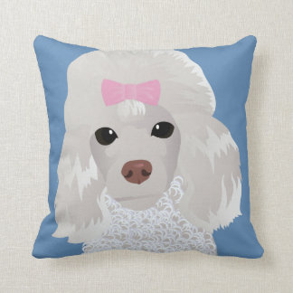 Pillow with poodle 2