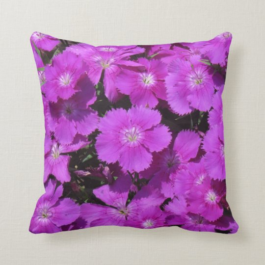 Pillow with Purple Flowers