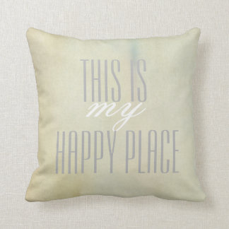 pillow with quote gray on pastel watercolor