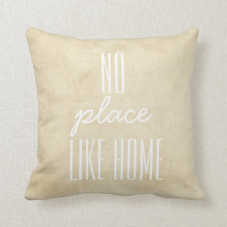 pillow with quote on distressed background in tan