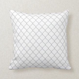 Pillow with Silver Chain Link Fence