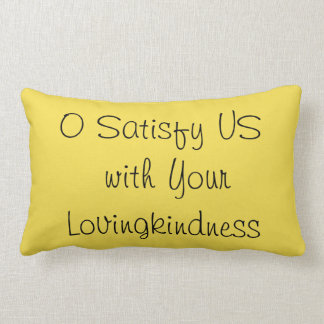 Pillow with verse