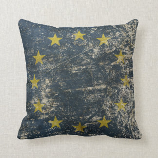 Pillow with vintage flag of EU