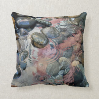 pillow with water and stones