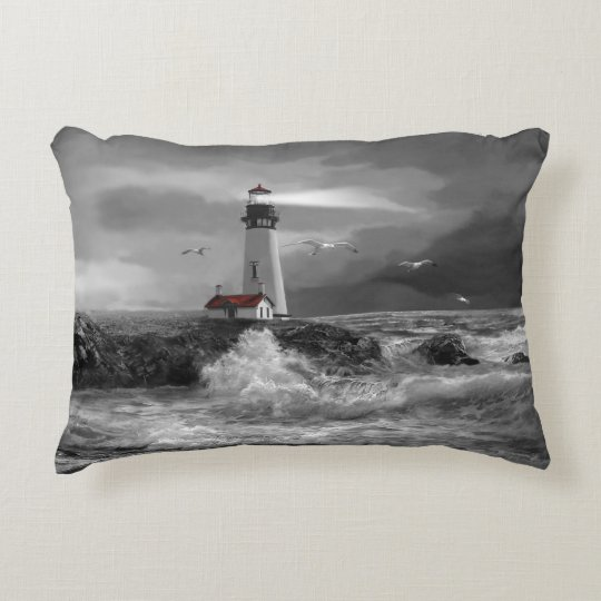Pillow with Yaquina Head Lighthouse