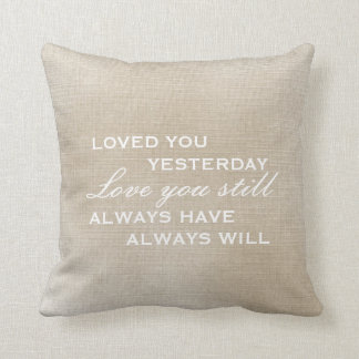 Pillow | Worn Vintage Look - Love you still
