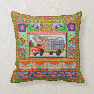 Pillowcase Inspired by Truck Art - 3 Throw Pillow