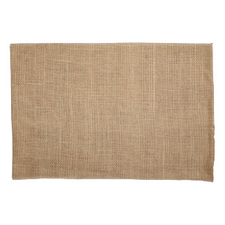 Pillowcase, Standard, with natural rustic canvas Pillowcase