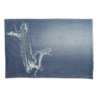 Pillowcase, with with natural blue jeans, denim pillowcase