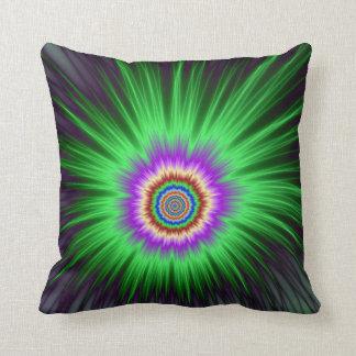 Pillows   Green Star Burst