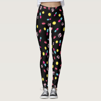 pills cartoon leggings