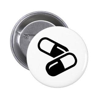 Pills medicine 2 inch round button