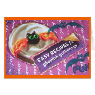Pillsbury Cookie Scary Bat Collage Greeting Card