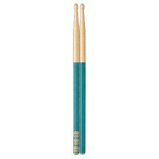 pilon de vert bleu de Tri crâne Baguettes De Tambour