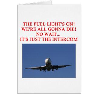 PILOT airline joke Card