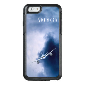 Pilot Aviation Blue Jet Plane in the Clouds & Sky OtterBox iPhone 6/6s Case