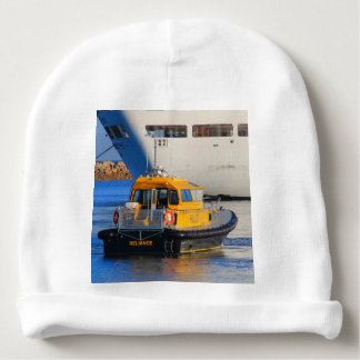 Pilot boat and cruise ship baby beanie