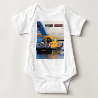 Pilot boat and cruise ship baby bodysuit