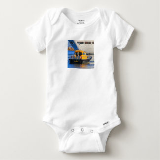 Pilot boat and cruise ship baby onesie