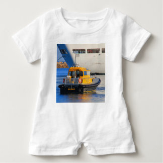 Pilot boat and cruise ship baby romper