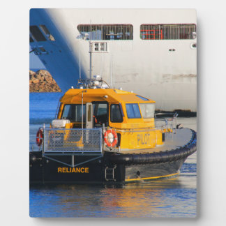 Pilot boat and cruise ship plaque