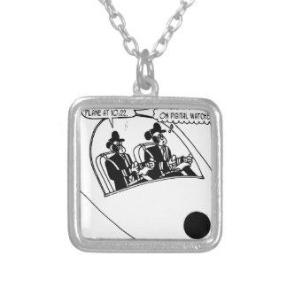 Pilot Cartoon 3683 Silver Plated Necklace