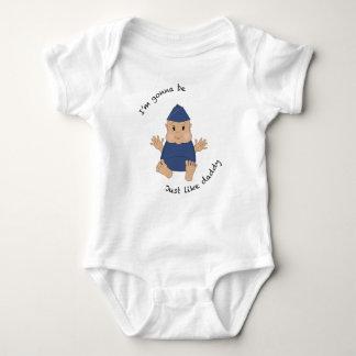 Pilot daddy baby bodysuit
