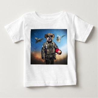 Pilot dog,funny bulldog,bulldog baby T-Shirt