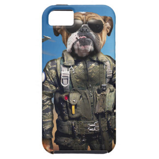 Pilot dog,funny bulldog,bulldog case for the iPhone 5