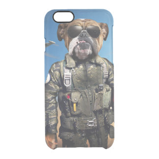 Pilot dog,funny bulldog,bulldog clear iPhone 6/6S case