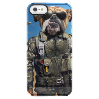 Pilot dog,funny bulldog,bulldog clear iPhone SE/5/5s case