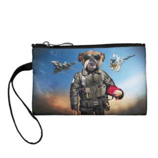 Pilot dog,funny bulldog,bulldog coin purse