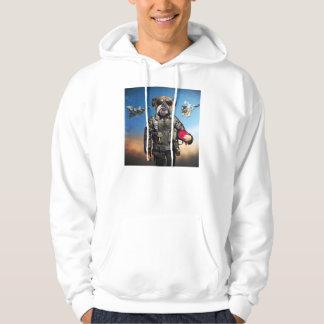 Pilot dog,funny bulldog,bulldog hoodie