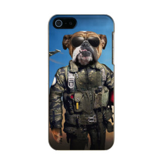 Pilot dog,funny bulldog,bulldog incipio feather® shine iPhone 5 case