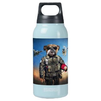 Pilot dog,funny bulldog,bulldog insulated water bottle