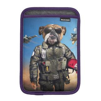 Pilot dog,funny bulldog,bulldog iPad mini sleeve
