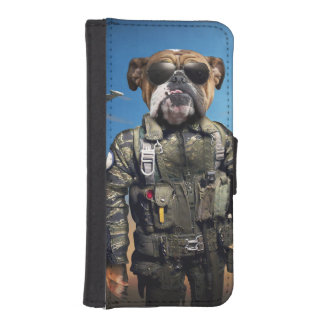 Pilot dog,funny bulldog,bulldog iPhone SE/5/5s wallet case