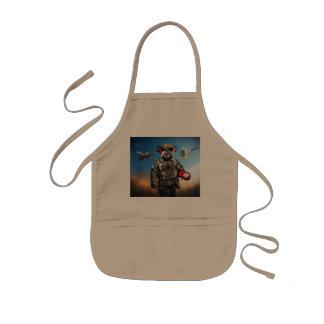 Pilot dog,funny bulldog,bulldog kids apron