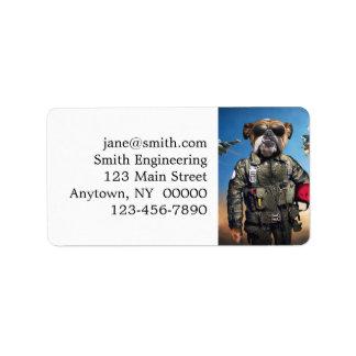 Pilot dog,funny bulldog,bulldog label