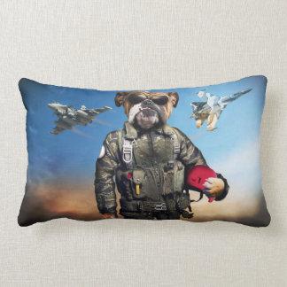 Pilot dog,funny bulldog,bulldog lumbar pillow