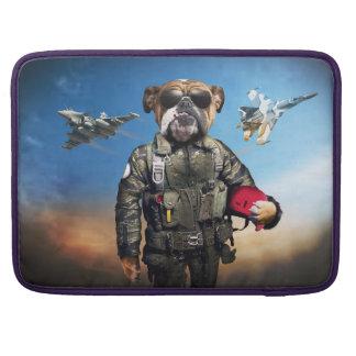 Pilot dog,funny bulldog,bulldog MacBook pro sleeves