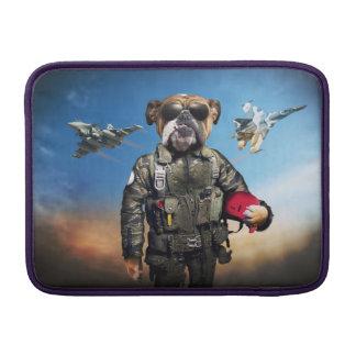 Pilot dog,funny bulldog,bulldog MacBook sleeves