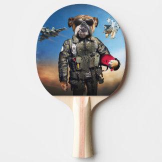Pilot dog,funny bulldog,bulldog ping pong paddle