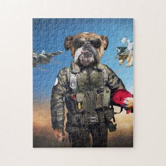 Pilot dog,funny bulldog,bulldog puzzles