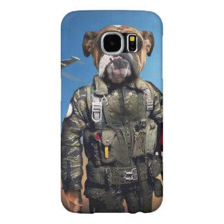 Pilot dog,funny bulldog,bulldog samsung galaxy s6 cases